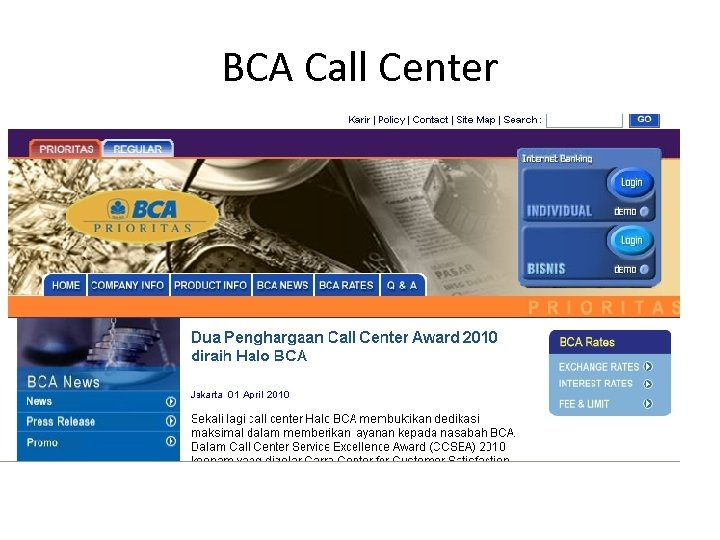 BCA Call Center