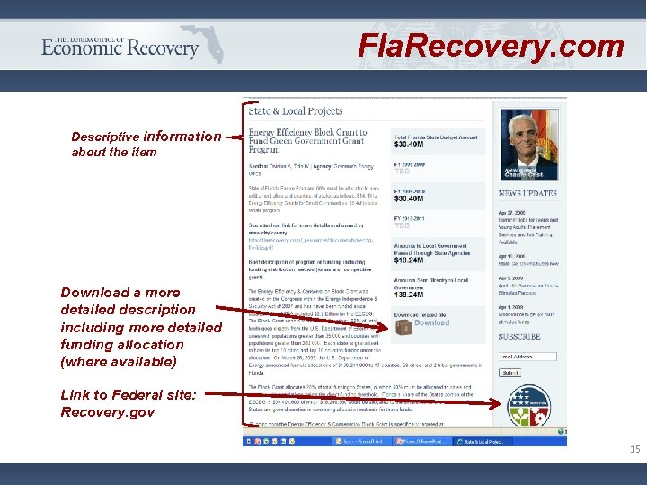 Fla. Recovery. com Descriptive information about the item Download a more detailed description including