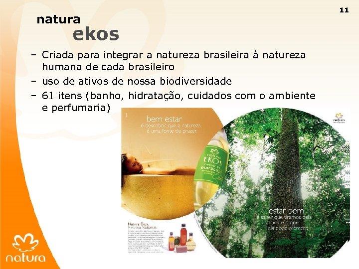 11 natura ekos – Criada para integrar a natureza brasileira à natureza humana de