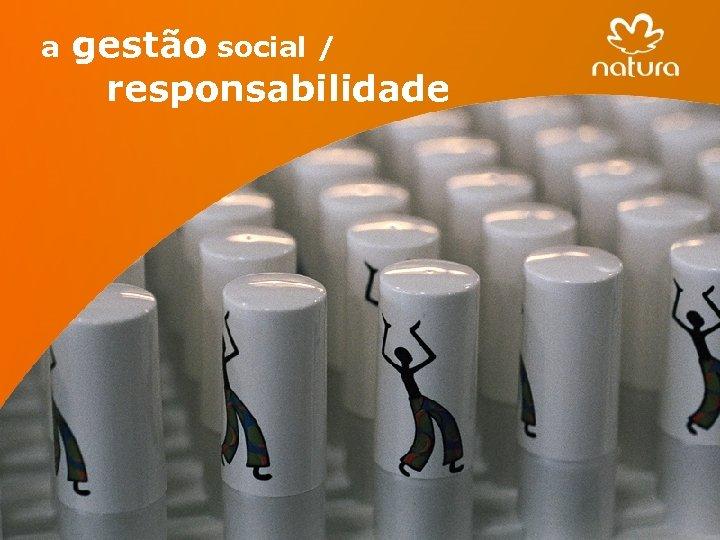 a 19 gestão social / responsabilidade 19