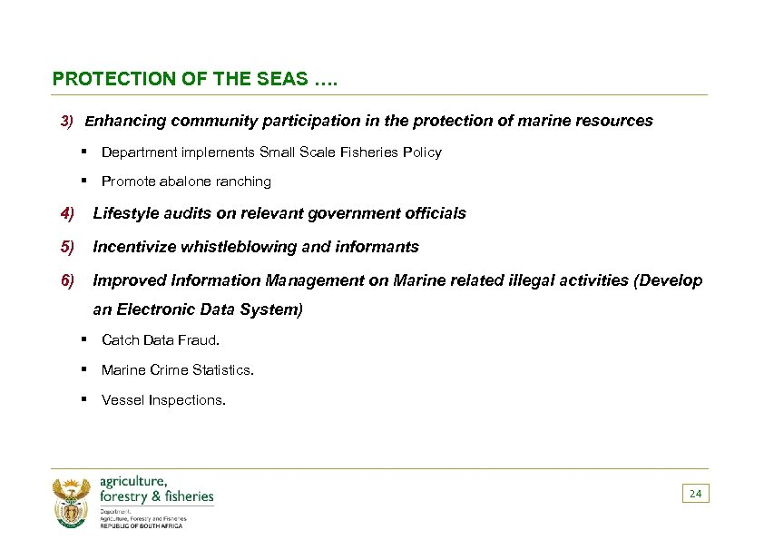 PROTECTION OF THE SEAS …. 3) Enhancing community participation in the protection of marine