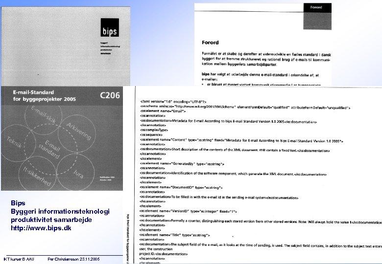 Bips Byggeri informationsteknologi produktivitet samarbejde http: //www. bips. dk IKT kurser B AAU Per