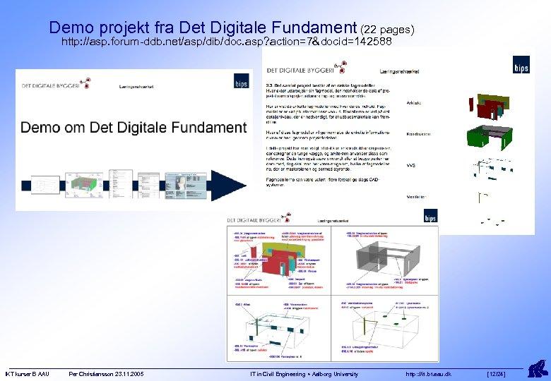 Demo projekt fra Det Digitale Fundament (22 pages) http: //asp. forum-ddb. net/asp/dib/doc. asp? action=7&docid=142588