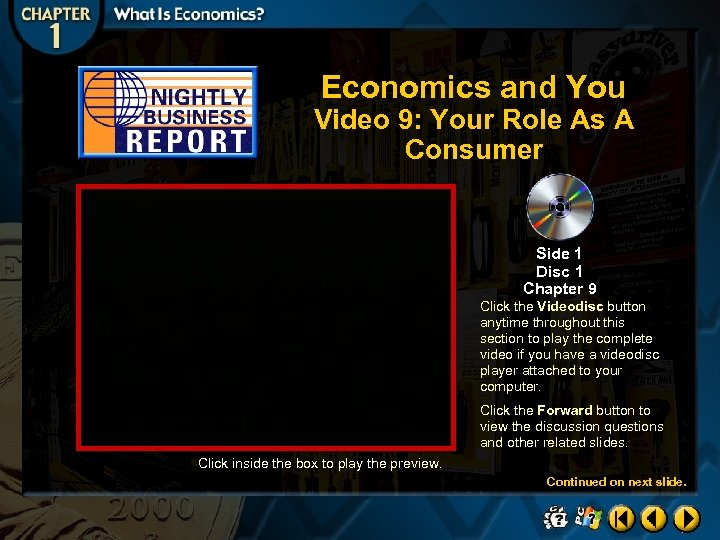 Economics and You Video 9: Your Role As A Consumer Side 1 Disc 1