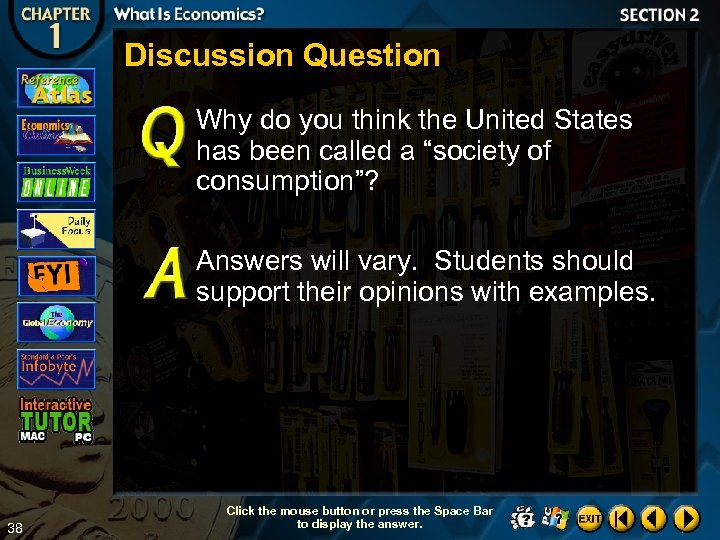 "Discussion Question Why do you think the United States has been called a ""society"