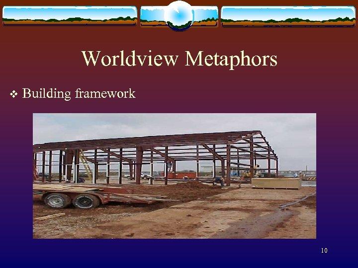 Worldview Metaphors v Building framework 10