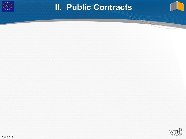 II. Public Contracts Page 13
