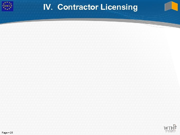 IV. Contractor Licensing Page 25