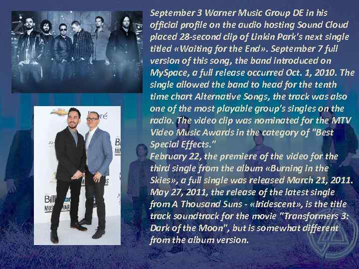 September 3 Warner Music Group DE in his official profile on the audio hosting