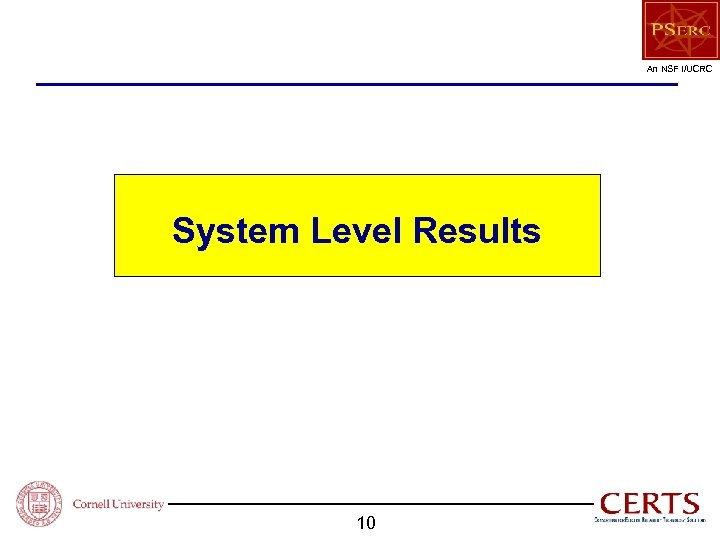 An NSF I/UCRC System Level Results 10