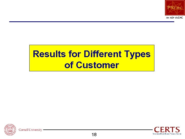An NSF I/UCRC Results for Different Types of Customer 18