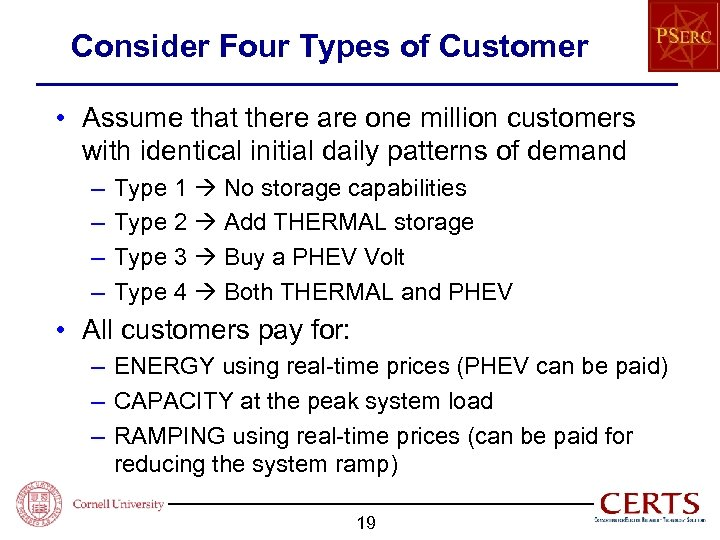 Consider Four Types of Customer • Assume that there are one million customers with