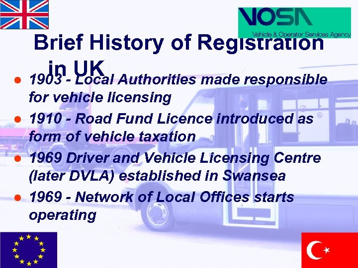 Brief History of Registration in- UK Authorities made responsible l 1903 Local l for