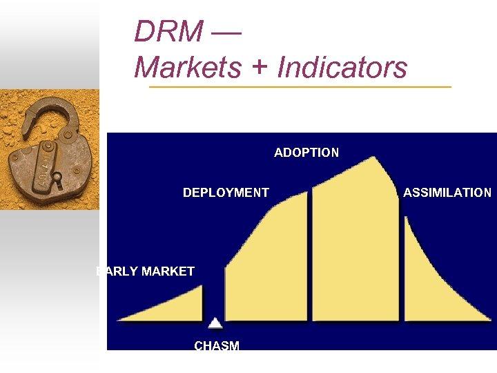 DRM — Markets + Indicators ADOPTION DEPLOYMENT EARLY MARKET CHASM ASSIMILATION