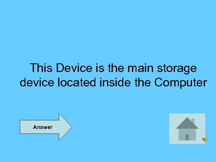 This Device is the main storage device located inside the Computer Answer
