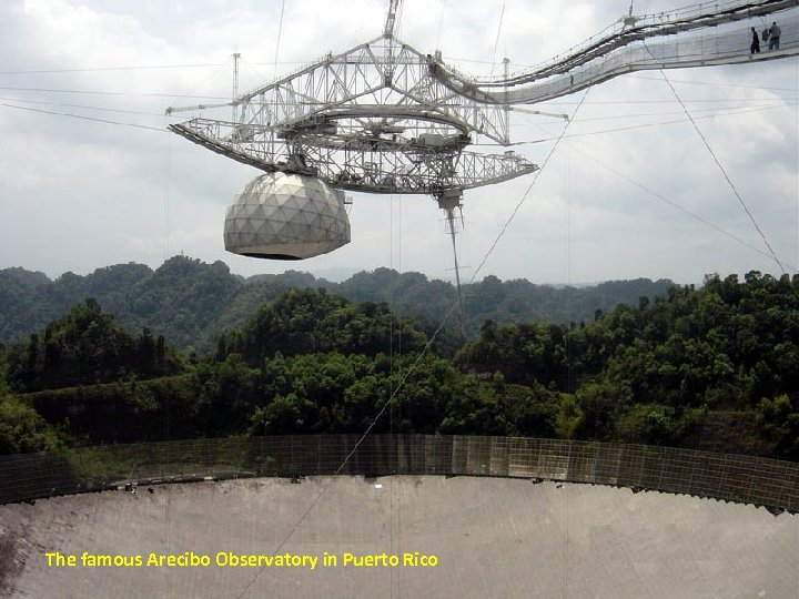 The famous Arecibo Observatory in Puerto Rico