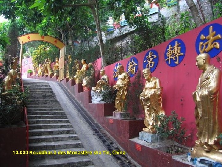 10. 000 Bouddhas à des Monastère sha Tin, China