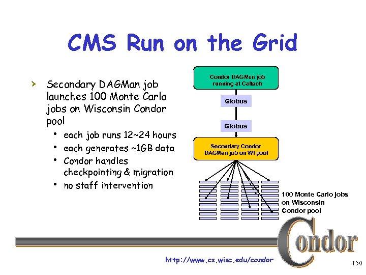 CMS Run on the Grid Condor DAGMan job running at Caltech › Secondary DAGMan