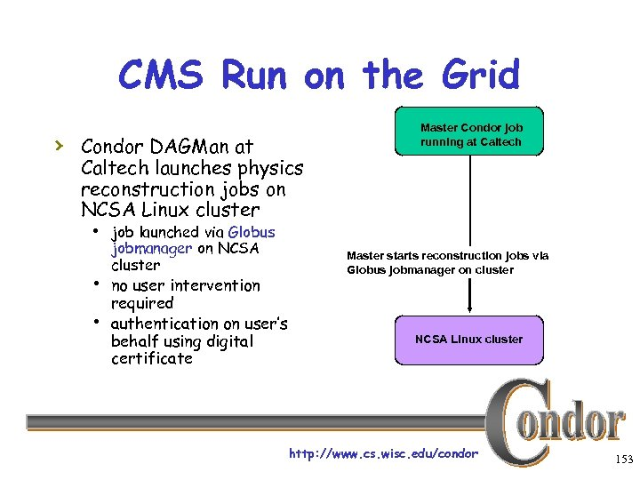 CMS Run on the Grid › Condor DAGMan at Master Condor job running at