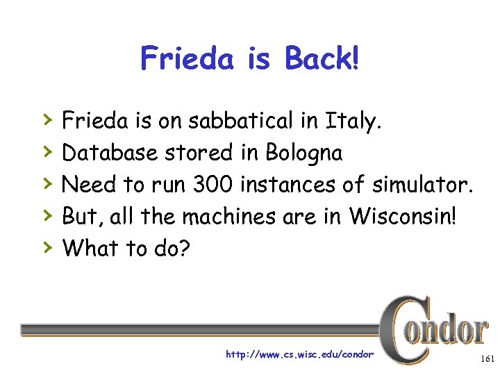 Frieda is Back! › › › Frieda is on sabbatical in Italy. Database stored