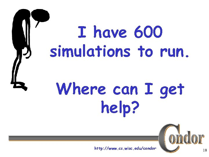 I have 600 simulations to run. Where can I get help? http: //www. cs.