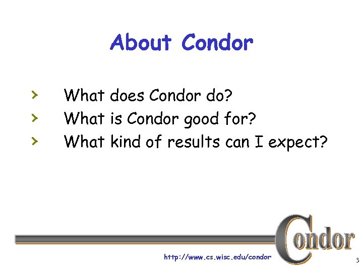 About Condor › › › What does Condor do? What is Condor good for?