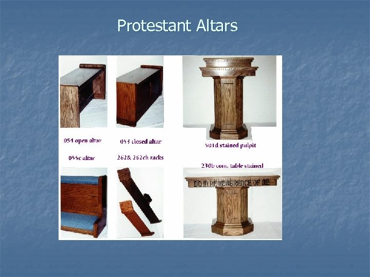 Protestant Altars