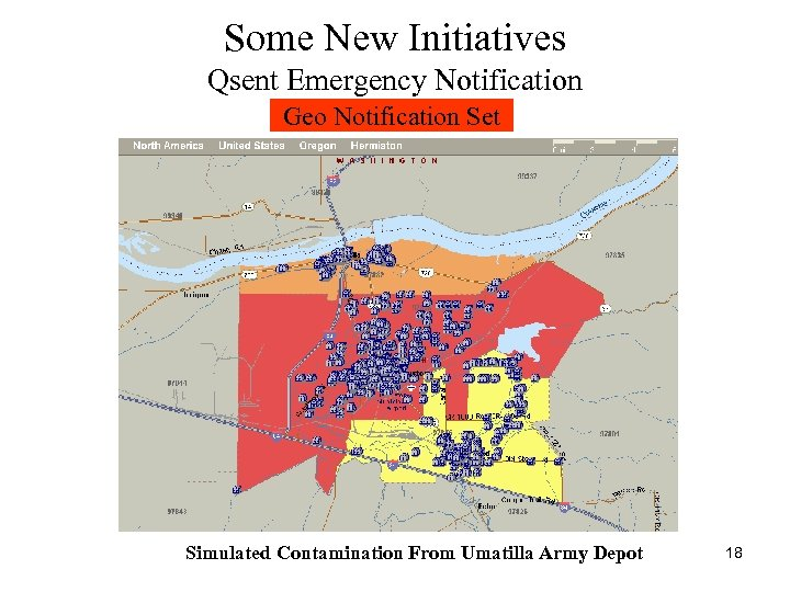 Some New Initiatives Qsent Emergency Notification Geo Notification Set Simulated Contamination From Umatilla Army