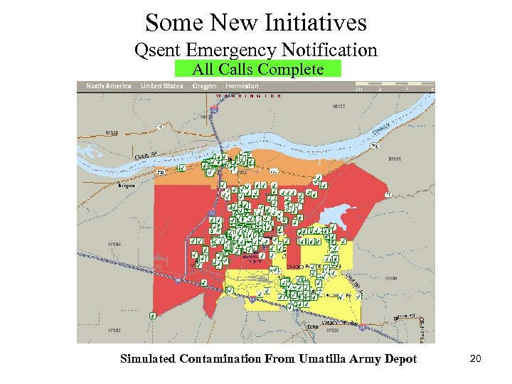 Some New Initiatives Qsent Emergency Notification All Calls Complete Simulated Contamination From Umatilla Army