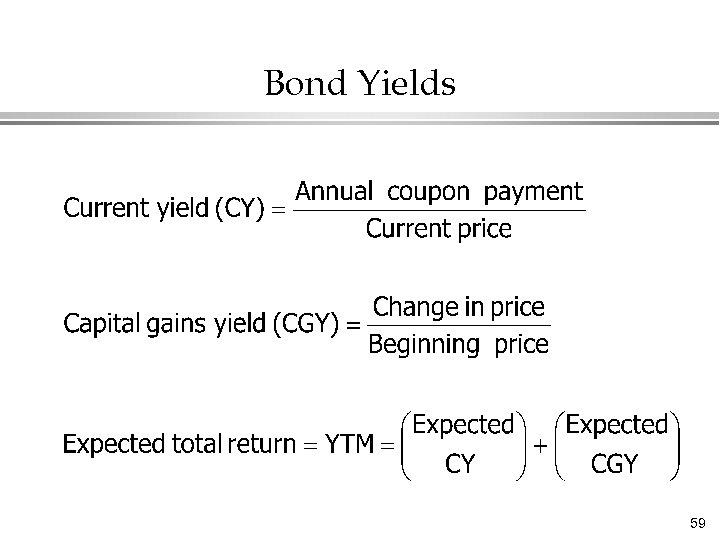 Bond Yields 59