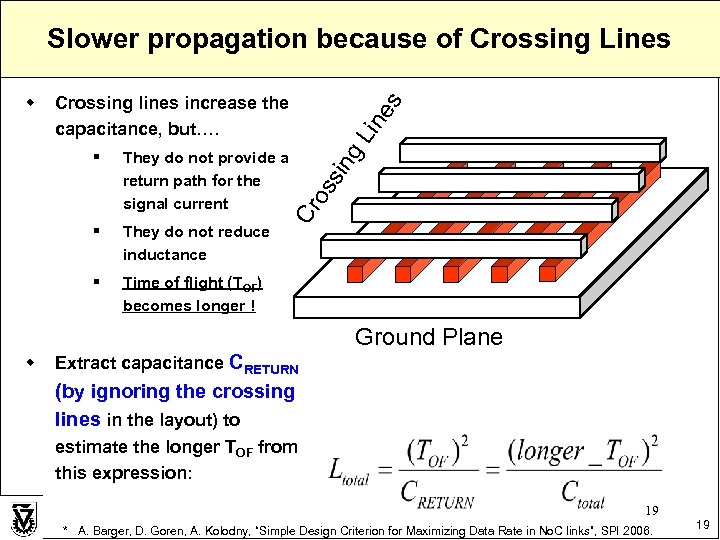 Slower propagation because of Crossing Lines They do not reduce inductance § g §