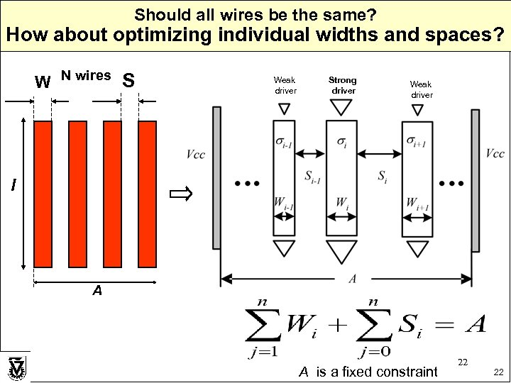 Should all wires be the same? How about optimizing individual widths and spaces? W