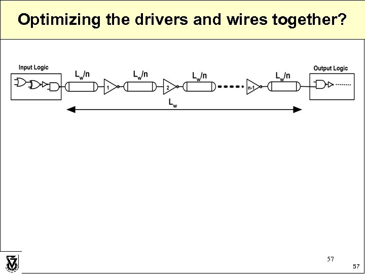 Optimizing the drivers and wires together? 57 57