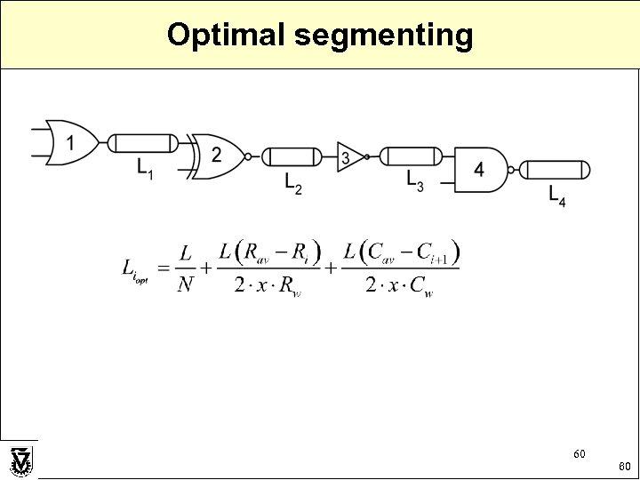 Optimal segmenting 60 60
