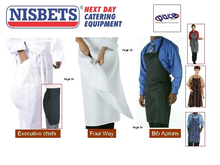 Aprons Page 39 Executive chefs Four Way Bib Aprons