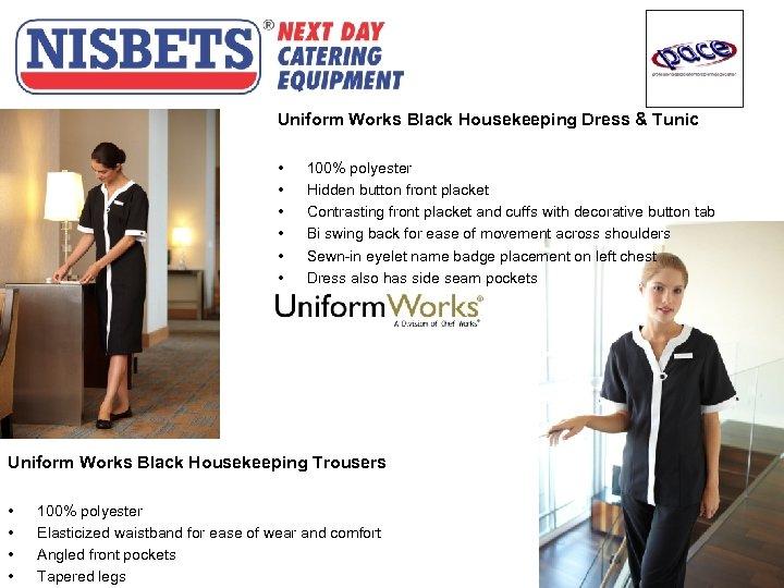 Uniform Works Black Housekeeping Dress & Tunic • • • 100% polyester Hidden button