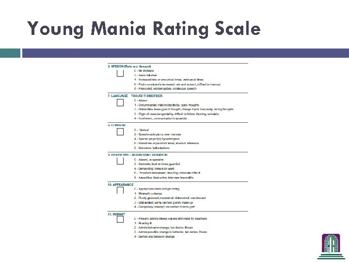Young Mania Rating Scale