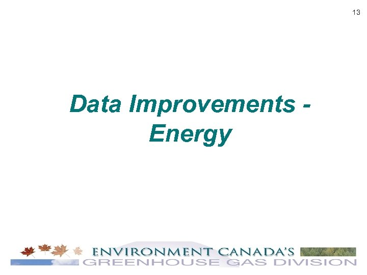 13 Data Improvements Energy
