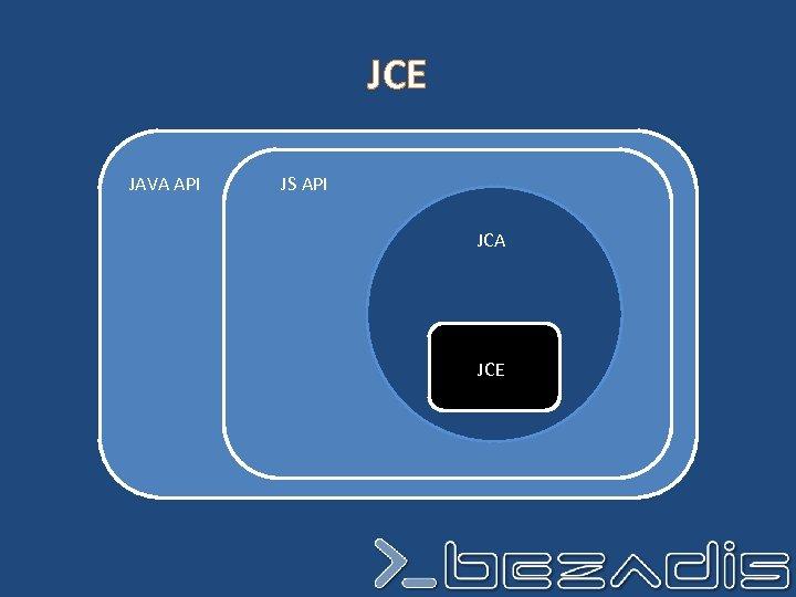 JCE JAVA API JS API JCA JCE