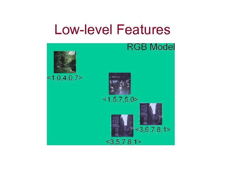 Low-level Features