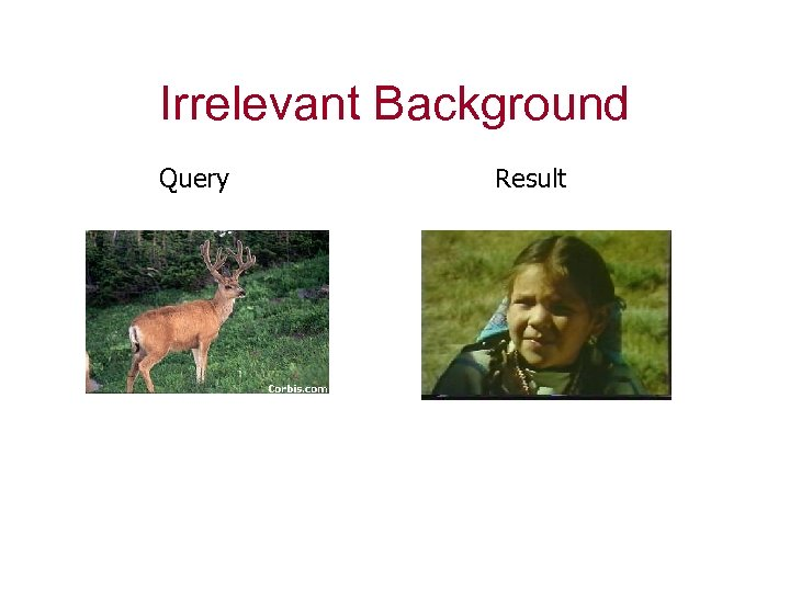 Irrelevant Background Query Result
