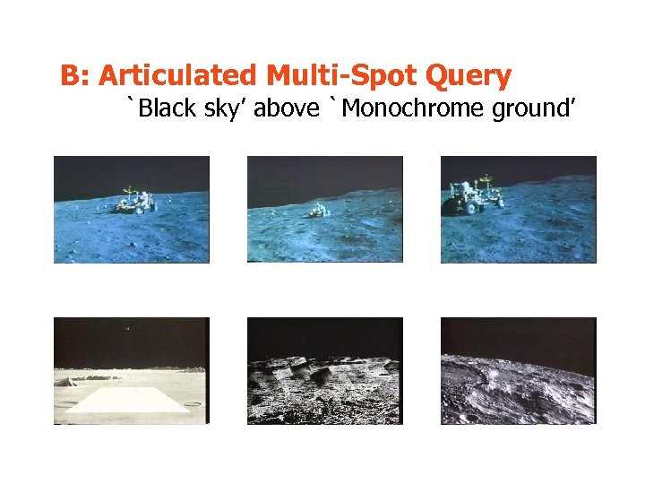 B: Articulated Multi-Spot Query `Black sky' above `Monochrome ground'