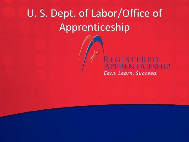 U. S. to edit Master title style Click. Dept. of Labor/Office of Apprenticeship Click