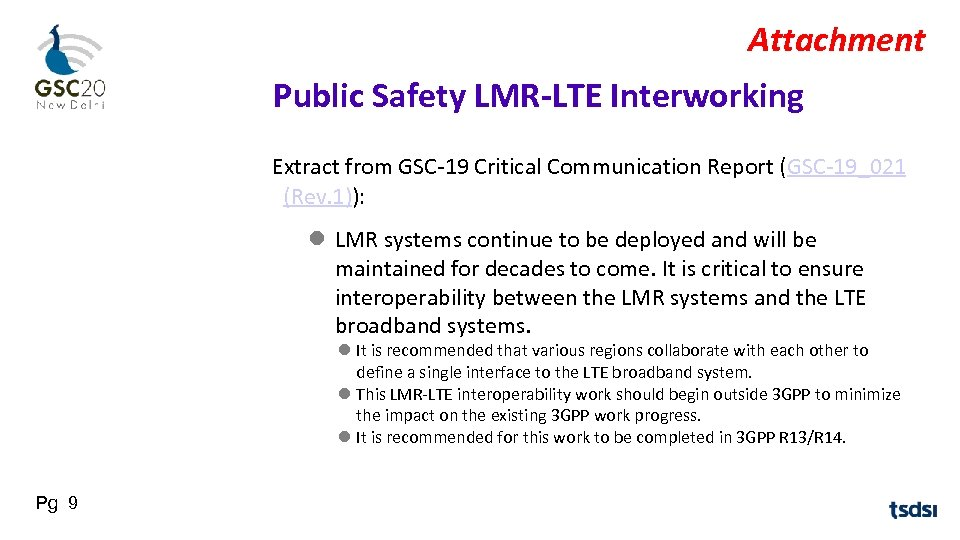 Attachment Public Safety LMR-LTE Interworking Extract from GSC-19 Critical Communication Report (GSC-19_021 (Rev. 1)):