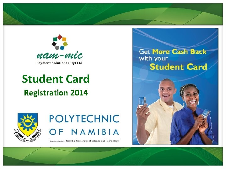 Student Card Registration 2014