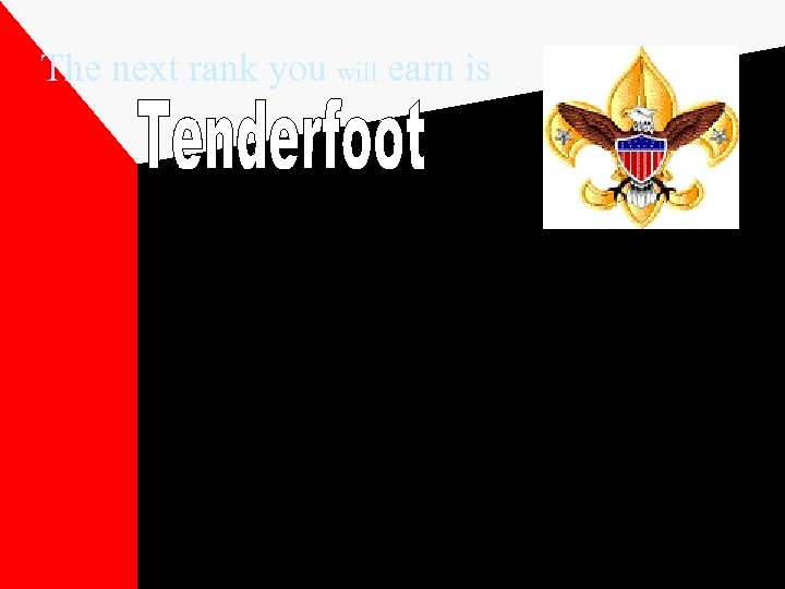The next rank you will earn is The eagle with a shield is the