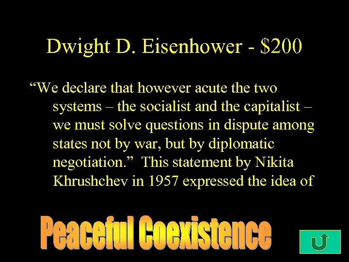 "Dwight D. Eisenhower - $200 ""We declare that however acute the two systems –"