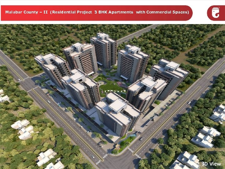 Malabar County – II (Residential Project 3 BHK Apartments with Commercial Spaces) 3 D
