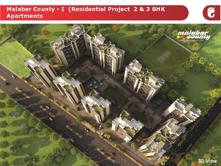 Malabar County - I (Residential Project 2 & 3 BHK Apartments 3 D View