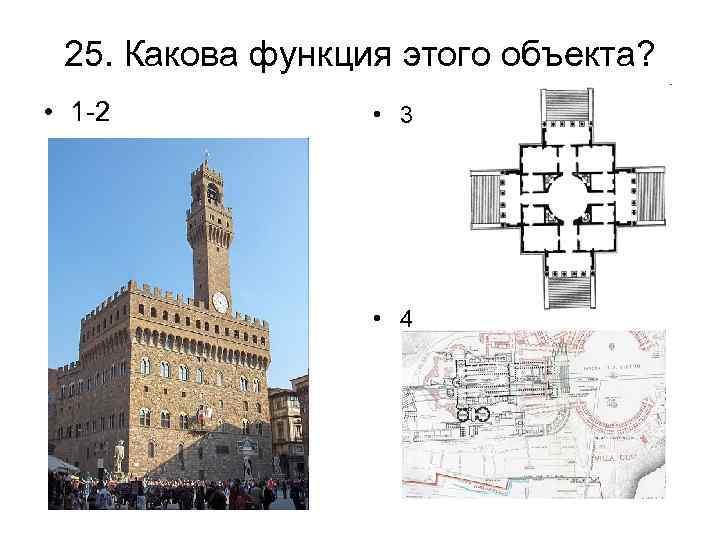 25. Какова функция этого объекта? • 1 -2 • 3 • 4